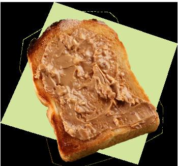 ピーナッツバタートースト写真