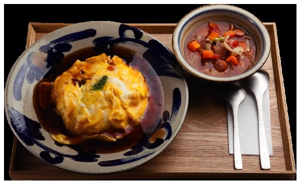 オムめし&スープ写真